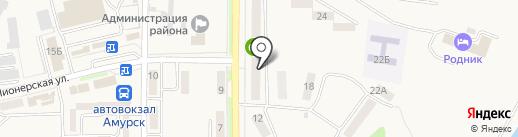 Незнайка на карте Амурска