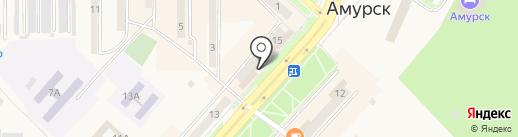 Магазин портьерных тканей на карте Амурска