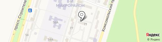 Микрорайон 8 на карте Амурска