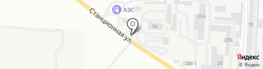 Штрафстоянка на карте Комсомольска-на-Амуре