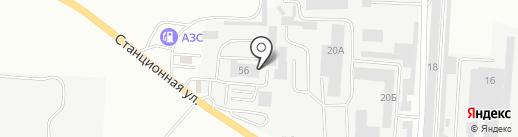 Автосервис Толстого на карте Комсомольска-на-Амуре