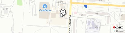 Магазин женской одежды и нижнего белья на карте Комсомольска-на-Амуре