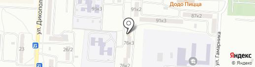 Весёлый гном на карте Комсомольска-на-Амуре