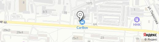 Шиномонтаж 24 на карте Комсомольска-на-Амуре