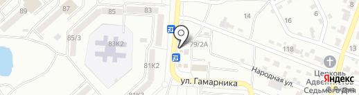 Янтарик на карте Комсомольска-на-Амуре