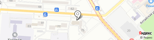 Универсальный магазин №56 на карте Комсомольска-на-Амуре