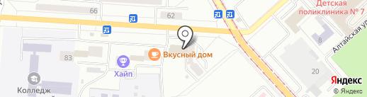 Эрос на карте Комсомольска-на-Амуре