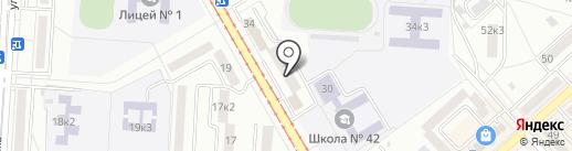Магазин-пекарня на карте Комсомольска-на-Амуре