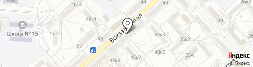 Банкомат, АКБ РОСБАНК на карте Комсомольска-на-Амуре