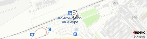 Железнодорожный вокзал на карте Комсомольска-на-Амуре