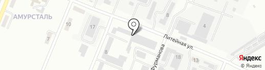 Дорожно-строительное управление №4 на карте Комсомольска-на-Амуре