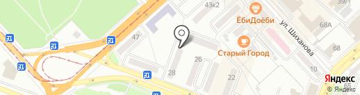 Участковый пункт полиции на карте Комсомольска-на-Амуре
