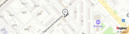 Зимняя фантазия на карте Комсомольска-на-Амуре