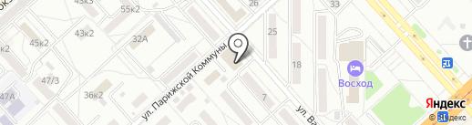 Подрастайка на карте Комсомольска-на-Амуре