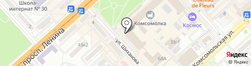 Милана на карте Комсомольска-на-Амуре
