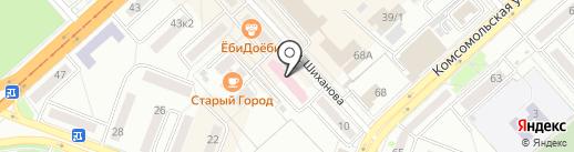 Стоматологическая поликлиника №1 на карте Комсомольска-на-Амуре