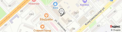 Риэл на карте Комсомольска-на-Амуре