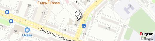 Сауна на Комсомольской на карте Комсомольска-на-Амуре