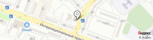 Сауна на карте Комсомольска-на-Амуре