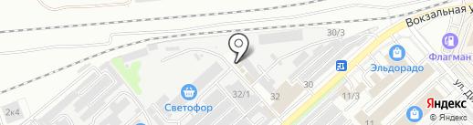 Вектор на карте Комсомольска-на-Амуре