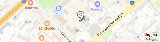 ЭМИС-ВОСТОК на карте Комсомольска-на-Амуре