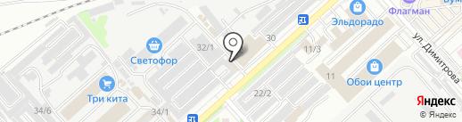Амур Цемент на карте Комсомольска-на-Амуре