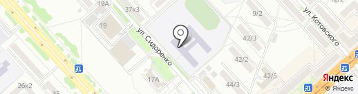 Средняя общеобразовательная школа №5 на карте Комсомольска-на-Амуре
