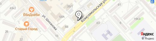 Мебельная компания на карте Комсомольска-на-Амуре