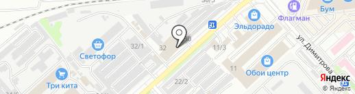 Строительные материалы на карте Комсомольска-на-Амуре