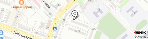 Строитель-ДВ на карте Комсомольска-на-Амуре