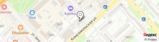 Кобра на карте Комсомольска-на-Амуре