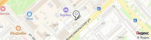 Тортуга на карте Комсомольска-на-Амуре