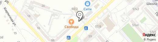 Киоск по продаже цветов на карте Комсомольска-на-Амуре