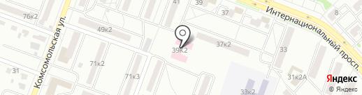 Противотуберкулезный диспансер на карте Комсомольска-на-Амуре