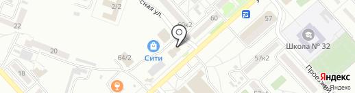 Дионис на карте Комсомольска-на-Амуре