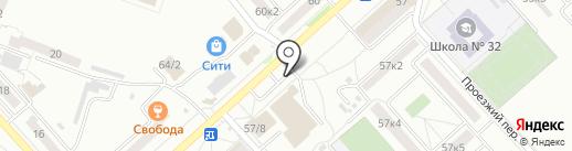 У Кузи на карте Комсомольска-на-Амуре