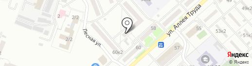 Причал на карте Комсомольска-на-Амуре
