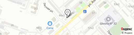 Магазин алкогольной продукции на карте Комсомольска-на-Амуре