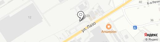 АЗС Флагман на карте Комсомольска-на-Амуре