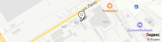Гарраж на карте Комсомольска-на-Амуре