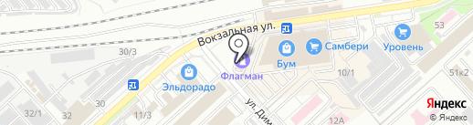 Автомакс на карте Комсомольска-на-Амуре