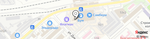 Виолет на карте Комсомольска-на-Амуре