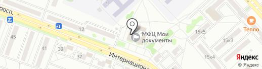 Администрация Центрального округа на карте Комсомольска-на-Амуре