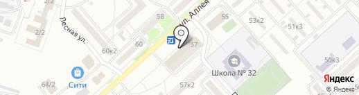 Удача на карте Комсомольска-на-Амуре