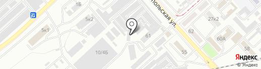 БИС на карте Комсомольска-на-Амуре