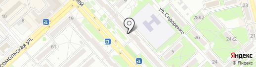 Хабаровская краевая СДЮСШОР на карте Комсомольска-на-Амуре