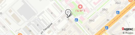 Колымская, ЗАО на карте Комсомольска-на-Амуре