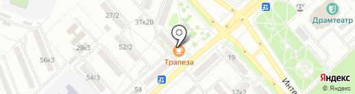 Трапеза на карте Комсомольска-на-Амуре