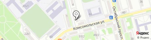 Юник на карте Комсомольска-на-Амуре