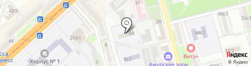 Детский дом №9 на карте Комсомольска-на-Амуре